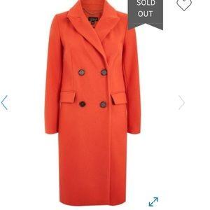 TOPSHOP Editors Double Breasted Coat